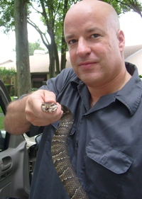 Water Moccasin catcher in Tampa Bay